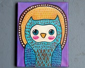 "Owl Painting - Number 9 of Series ""Marie"""