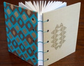 Ikat Upcycled Blank Journal