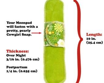 Organic Postpartum / Overnight Extra Moonpad (x1)- Reusable Washable Cotton Cloth Reusable Menstrual Pad