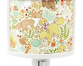Animal Tea Party Cute Night Light Nursery Bathroom hallway Bedroom GET IT nightlight Nite Lite