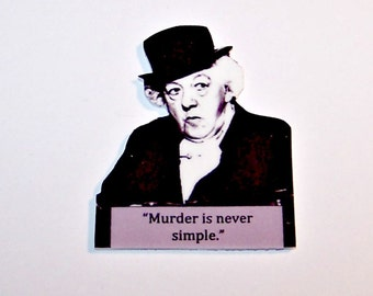 MISS MARPLE Quote Pin