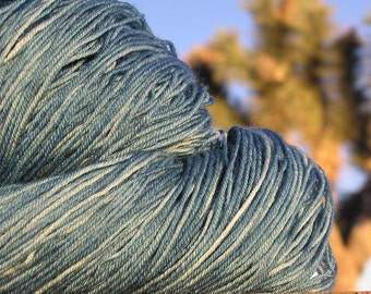 Yarn - Natural Dye - BFL Wool (Blue Faced Leicester) - Indigo