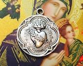 1pc SACRED HEART MEDAL Sacre Coeur 300 Indulgences