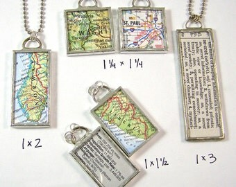 Adoption Jewelry Custom Map 2-Sided Pendant Necklace - Choose a map