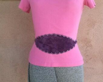 Vintage 1970s Belt Anne Klein Purple Suede W27 to 30 2014481