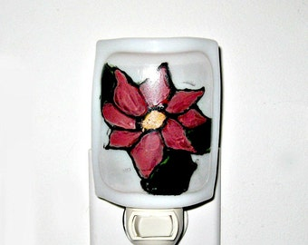 Fused Glass Small Sconce Flower Night Light