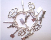 Warning, I'm ARMED and DANGEROUS Charm Bracelet
