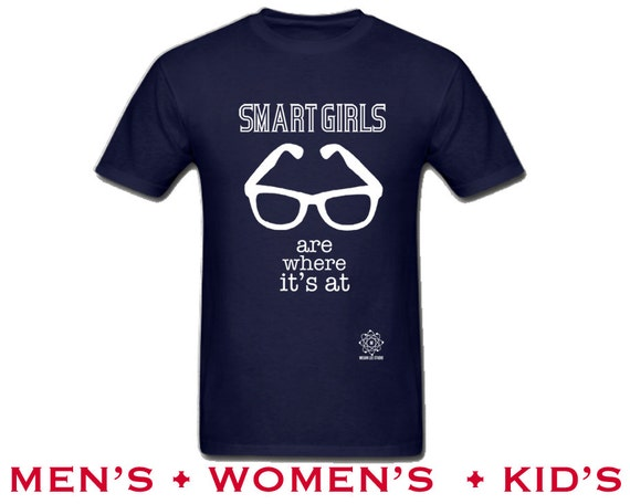 Smart Girls Tshirt, I Love Reading Book Lover Shirt, Library Hipster Glasses, Geeky Nerd Tee, Womens S M L Xl Xxl