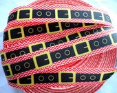 "7/8"" Santa's belt  grosgrain ribbon 5 yards"