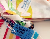 Reserved for Elizabeth - At The Fair - Fabric Bunting - Party Flags