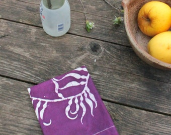 purple linen kelp towel