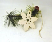 SALE Porcelain Snowflake Christmas Tree Ornament - No Two Alike - Ceramic Gift Tag That You Can Personalize Package Decoration