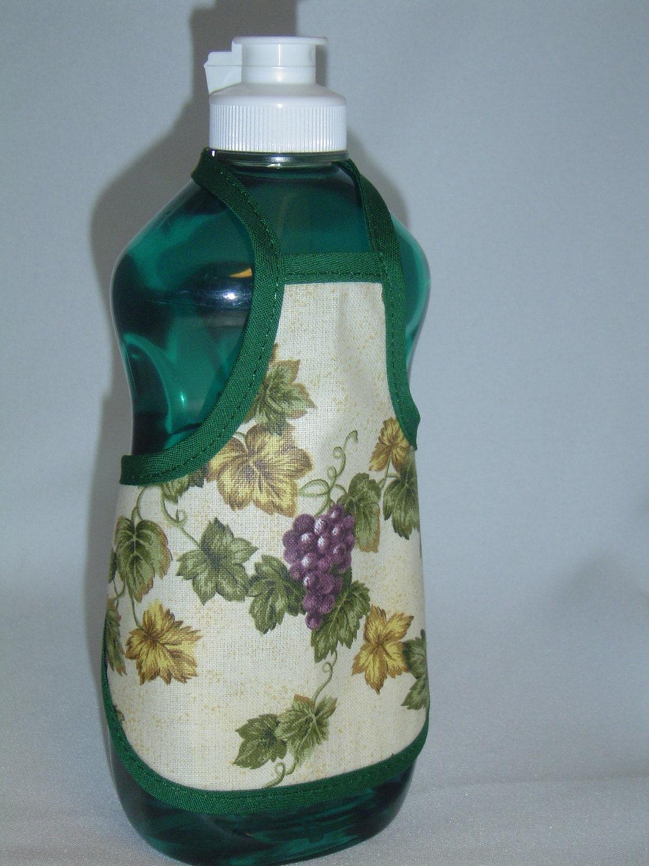 Grape Kitchen Decor Dish Soap Bottle Apron Cover By