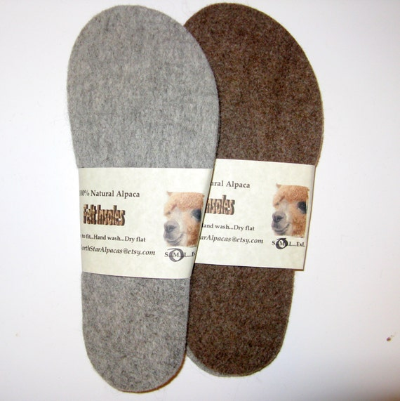Felt Alpaca Wool Insoles Shoe Inserts Boot Liners For