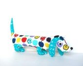Plush Wiener Dog Softie for Kids Dachshund Soft Doll Baby Toy ROLAND