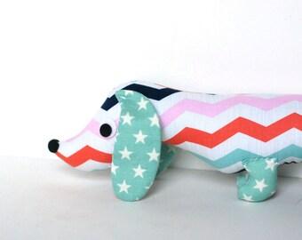 SHIPS FAST Plush Wiener Dog Softie for Kids Dachshund Soft Doll Baby Toy SASHA