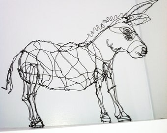 18-inch Donkey-Wire Drawing Sculpture Art