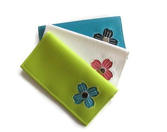 Duplicate Checkbook Cover with Dogwood Flower in CUSTOM Colors by Tender Roni *Choose Your Own Colors* Available for Top or Left Tear Checks