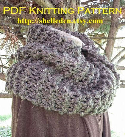 Back by popular demand PDF EASY Knitting Pattern for Bulky