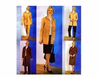 Misses Jacket Dress Belt Skirt Pants Butterick 3650 Sewing Pattern Size 8 - 10 - 12 Bust 31 1/2 - 32 1/2 - 34 Uncut