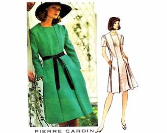 1970s Pierre Cardin Dress Label Included Vogue Paris 1020 Vintage Sewing Pattern Size 16 Bust 36 UNCUT