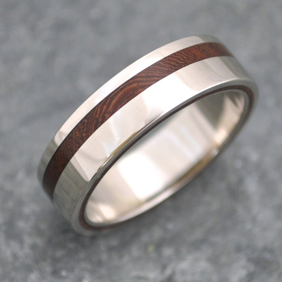 Like this item Equinox Nacascolo Wood Ring with Recycled Silver ecofriendly. Mens Wedding Bands With Wood. Home Design Ideas