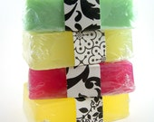 4 Natural Handmade Soap Bars, Soap, Bulk Soap, Discounted Soap, Priority Mail Upgrade