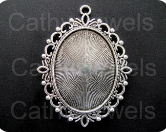 The Ritz Antique Silver Cameo Setting Set Of Three