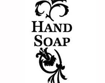 Hand Soap art vinyl container bottle label decal