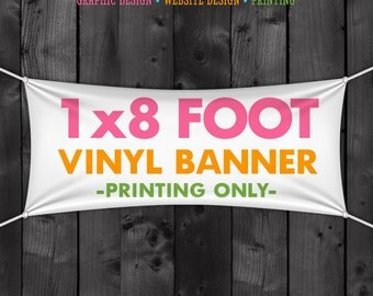 Vinyl Craft Show Banner - 1x8 Foot Banner for your Tent or Table