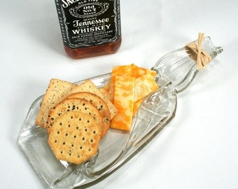Jack Daniels Tennessee Whiskey Molded Bottle Serving Tray - Spoon Rest - Recycled Eco-Friendly