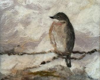 No.779 On a Limb Again - Needlefelt Art XL - Wool Painting