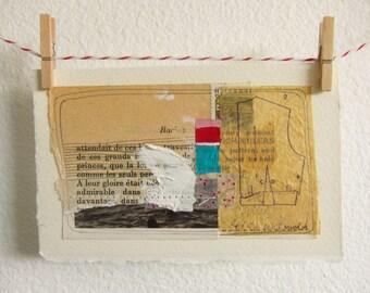 Artwork - Original Art - Abstract Art - Collage Art - Mixed Media Art - Wall Art - Home Decor - Mini Art - Miniature Art - Racine 2
