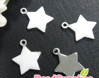 CH-EX-01001W - Puffy Star,Pure White, 6 pcs