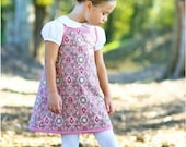 "Summertime Dreams reversible A-line sundress pdf sewing pattern sizes 12M to 10 plus 18"" doll"