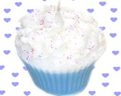 Blue Birthday Cake Cupcake Candle Creamy Vanilla Bakery Scent