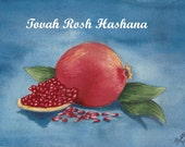 Rosh Hashana (New Year) Pomegranate  Card-6 pack w/envelopes