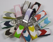 MINI Key Fob Chain - Keychain - Keyfob - Design It Yourself - DIY - Choose your Chevron Color and Webbing Color