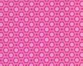 Gabbie Daisy Pink Fabric - Maude Asbury for Blend Fabrics - Hot Pink - Premium Quilting Fabric - One Yard