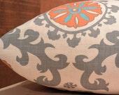 Add Personalization - DESIGNER Pet Bed Duvet Cover - Stuff with Pillows - YOU Choose Fabric - Rosa Dossett Mandarin shown