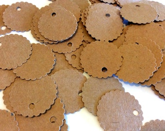 Price Tags, Jewelry Tag, Set of 100, Scallop Tag, Wedding Tag, Label