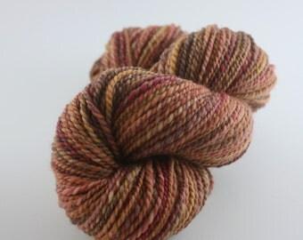 Frosted Leaves - Handspun Superwash Corriedale Yarn