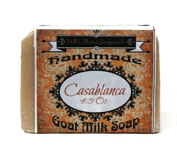 Soap - Lavender, Tea Tree, Orange with Pink Kaolin Clay - Amazing Goat Milk Soap, Olive Oil, Goat Milk Soap, Shaving Soap, sensitive skin