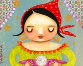 GYPSY woman FORTUNE teller PRINT from painting by Tascha