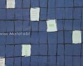 Japanese Fabric Suzuko Koseki lattice - navy blue - fat quarter