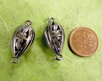 2pc gunmetal metal alloy fancy links-1548