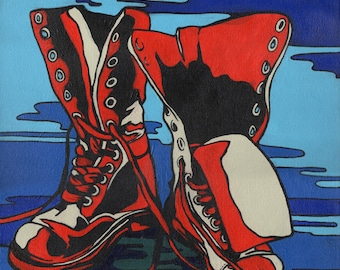 Open Edition Print of Red Boots - MODERN POP!