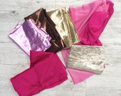 Theatre/dance costume shiny sparkle fabric pink gold purple discount sale pack.