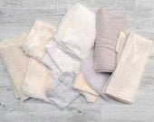 White & ivory bridal offcuts discount fabric bundle
