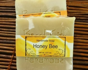 Honey Bee Handmade Soap Cold Process Soap No Added Fragrance